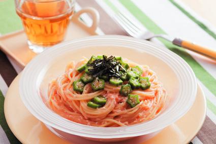 ねばねば冷製たらこスパゲッティ